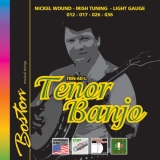 BOSTON TENOR BANJO /IRISH TUNING /NICKELW./LIGHT