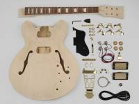 Bausatz,  guitar assembly kit, archtop model, basswood body, 22 frets
