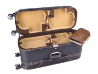 Geigenkoffer für 8 Instrumente,  case for 8 4/4 violins (2x2) with 4 wheels and trolley system